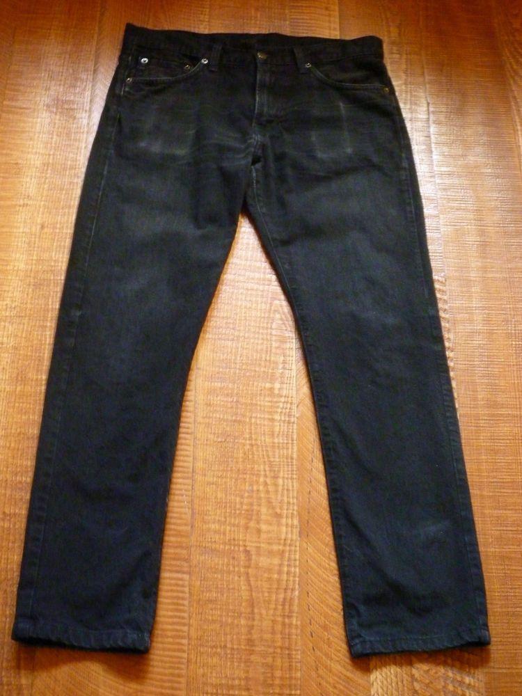 Simon Spurr Black Slim Skiinny Straight Leg Jeans Size 32x30 100% cotton #SimonSpurr #SlimSkinny