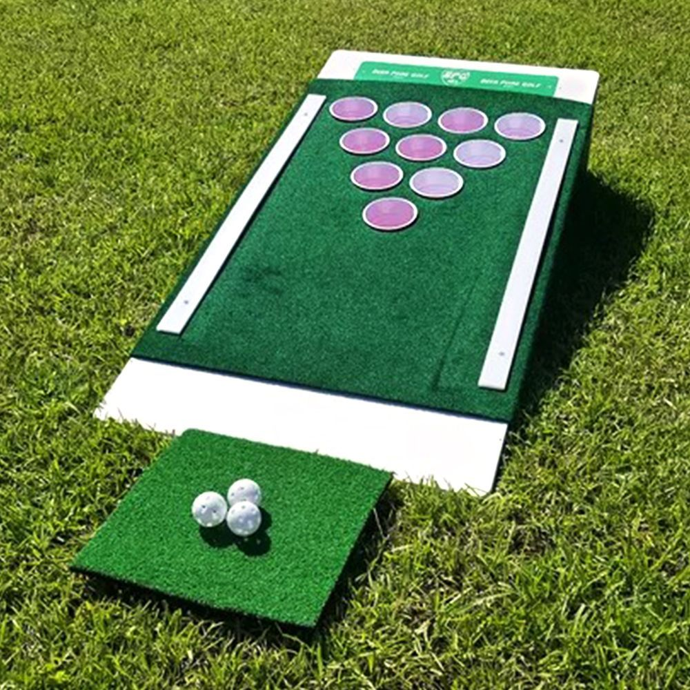 This Beer Pong Golf Set Is The Ultimate Drinking Game So You Better Work On Your Putt Drinking Games Putt Putt Golf Set