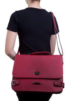 Bolsa Chenson Carteiro Estruturada Vermelha couro sintético