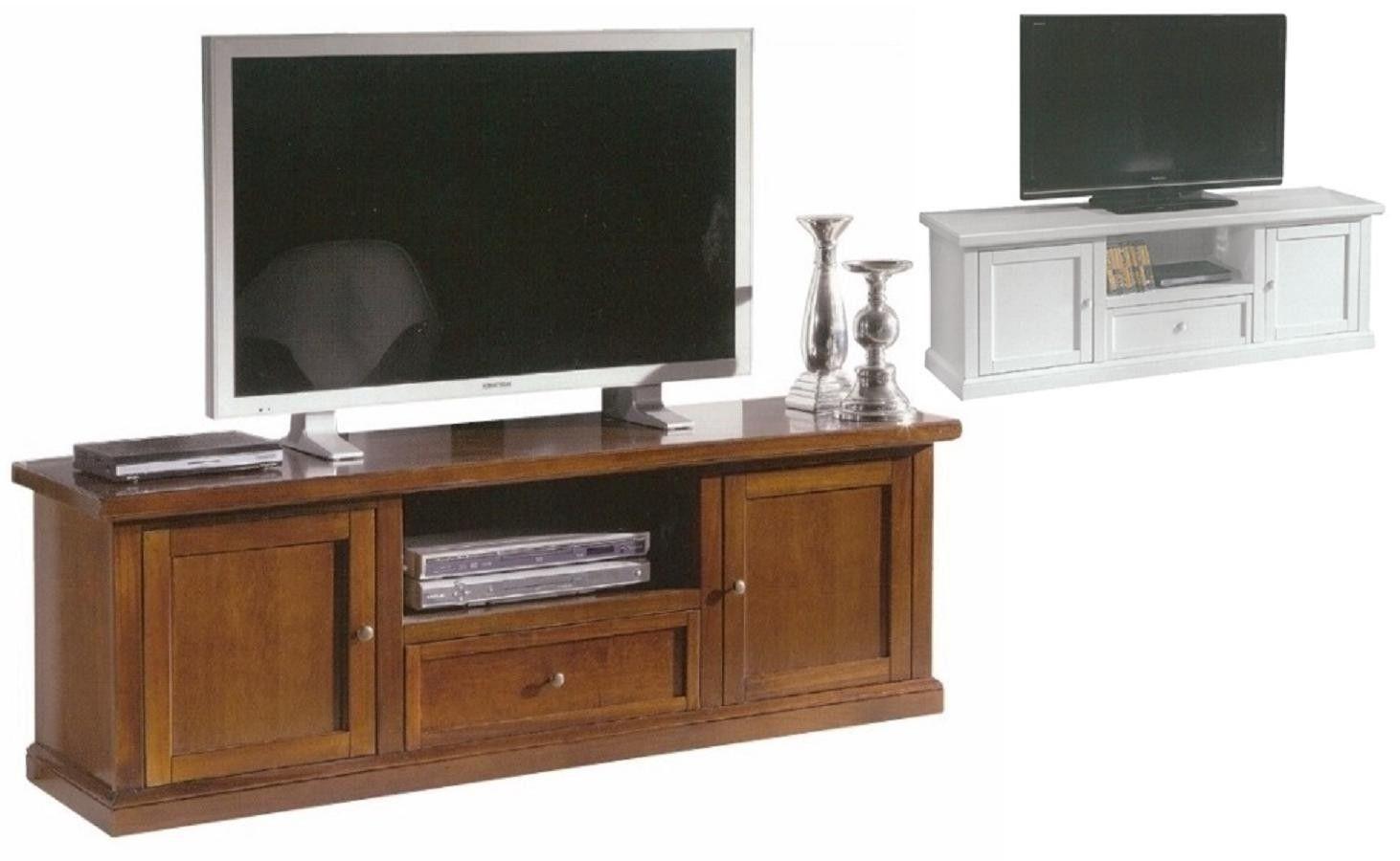 Porta TV in legno massello cm 160 arte povera noce