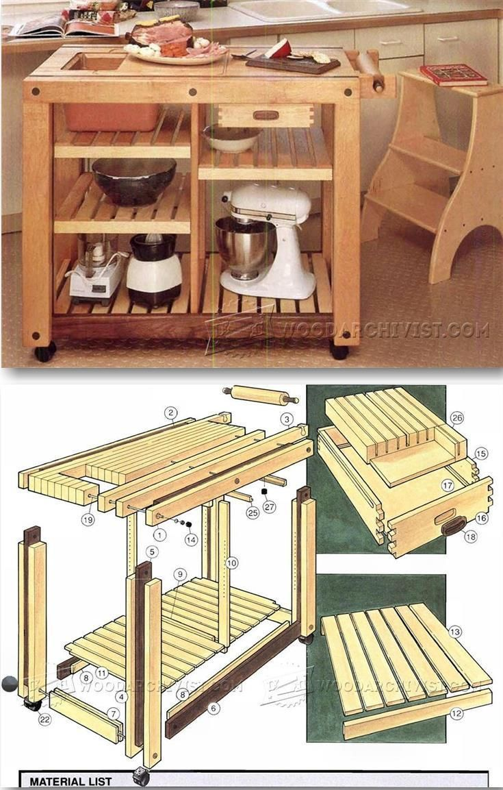 kitchen work table plans - furniture plans and projects