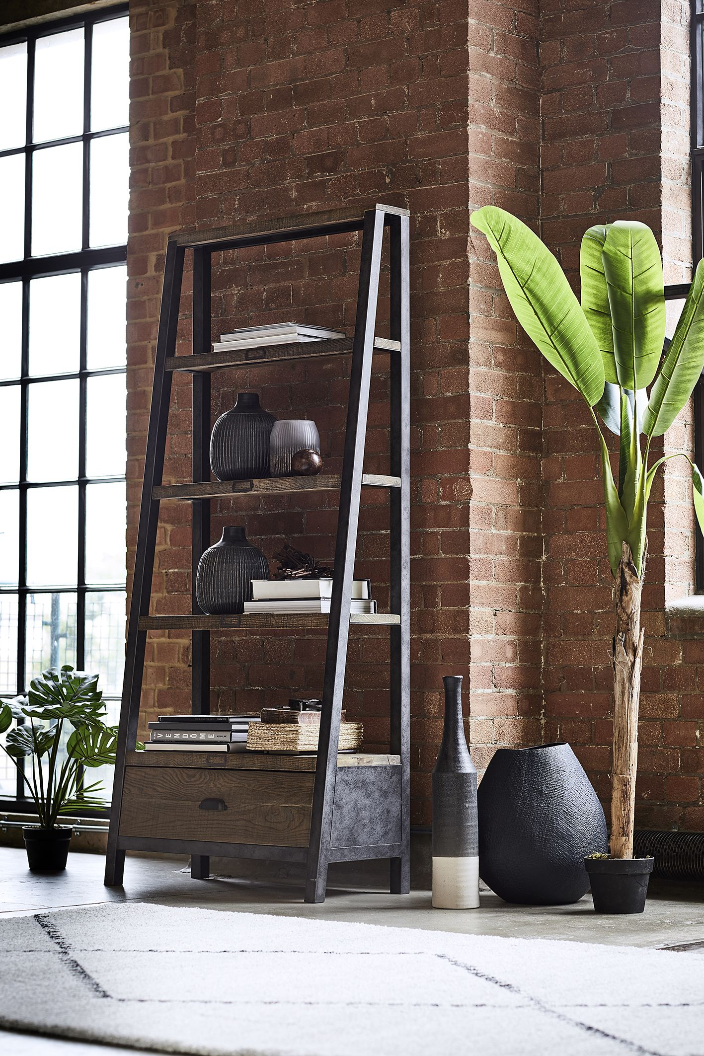 Give your room an industrial edge with the Baker Tapered
