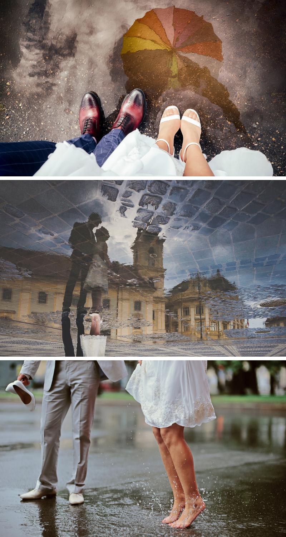 45 romantische Hochzeitsfotos im Regen - Hochzeitskiste