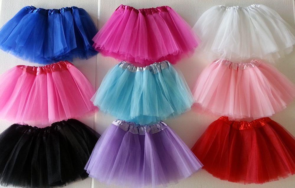 3 Layer Toddler Kids Girls Tutu Skirt Dress Up Costume Party Ballet Dancewear UK