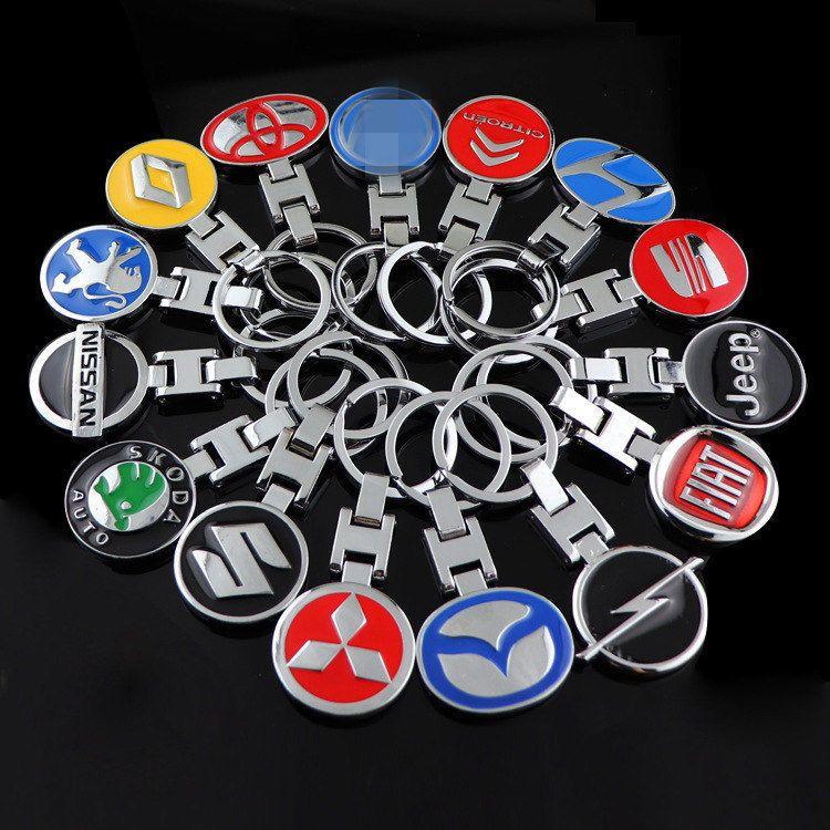 Keyrings For Car Logo 3d Metal Keyring Keychain Key Chain Pendant