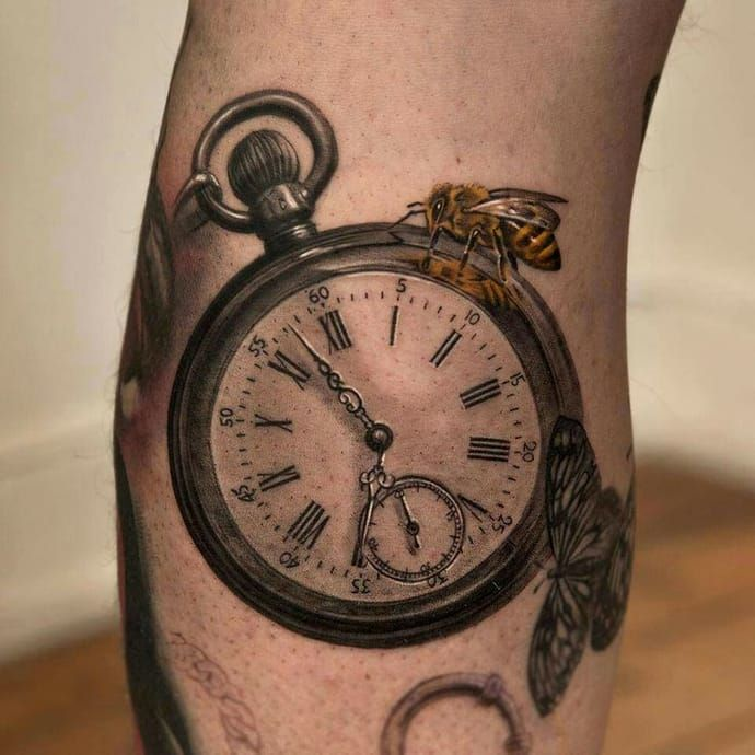 traditional simple clock tattoo design image tattoo art