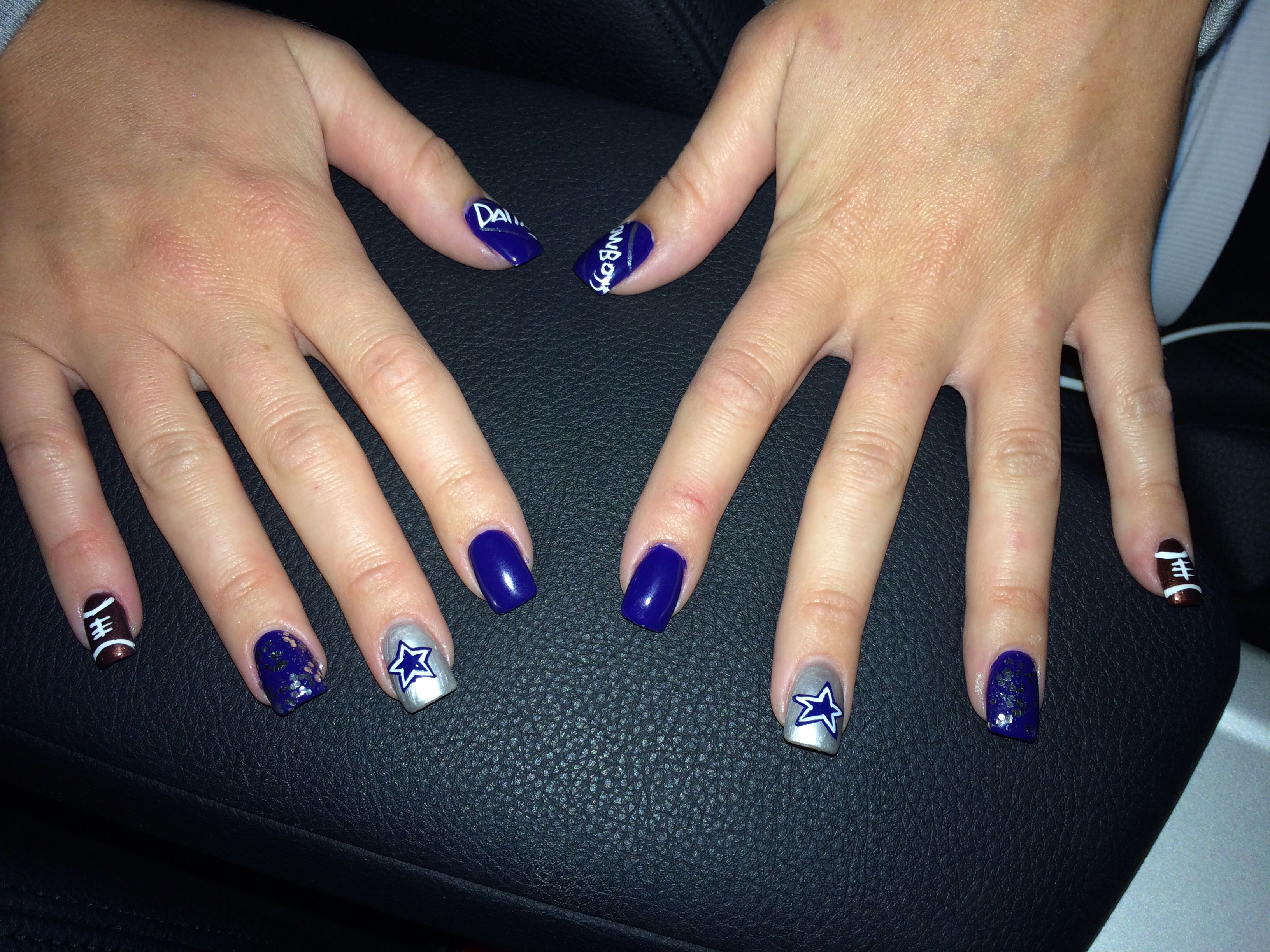 Dallas Cowboys Nails | Dallas Cowboys ❤ | Pinterest | Dallas ...