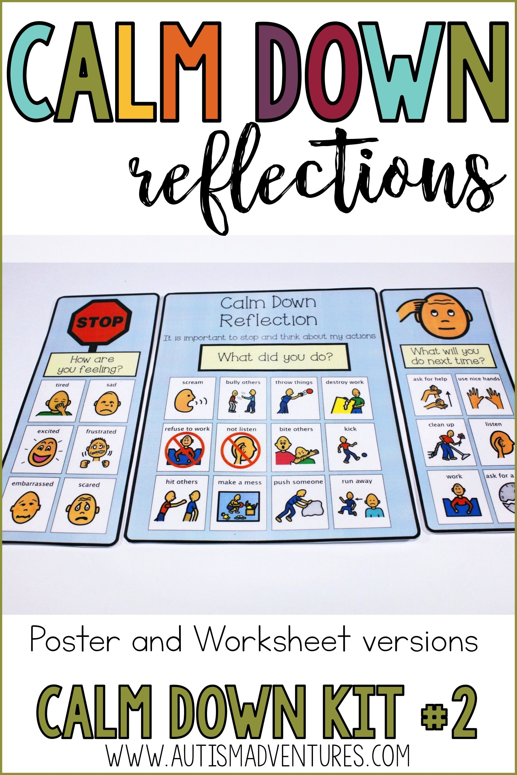 Calm Down Kit Corner Visual Behavioral Management Tools For The Primary Grades