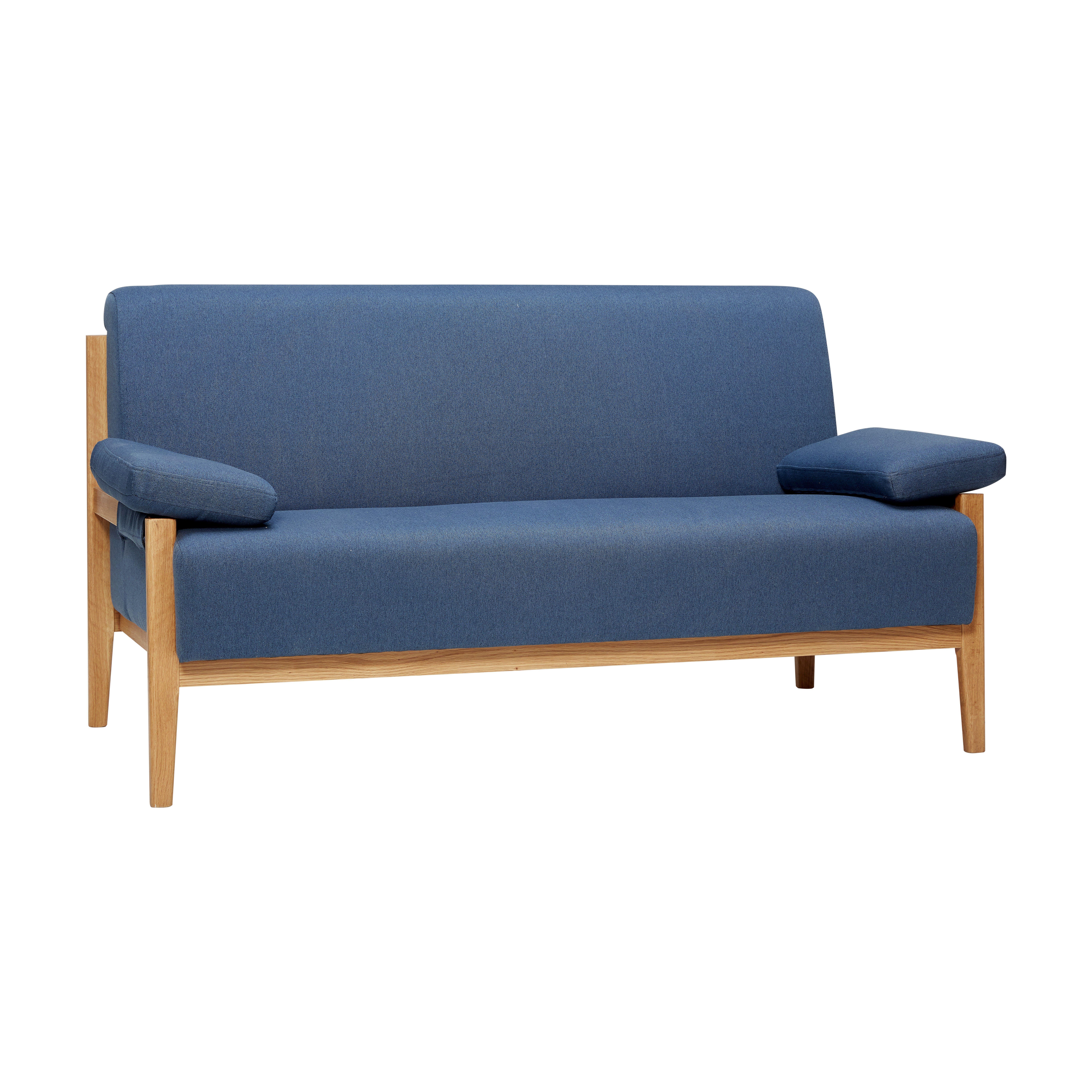 2 Sitzer Sofa mit Eichengestell
