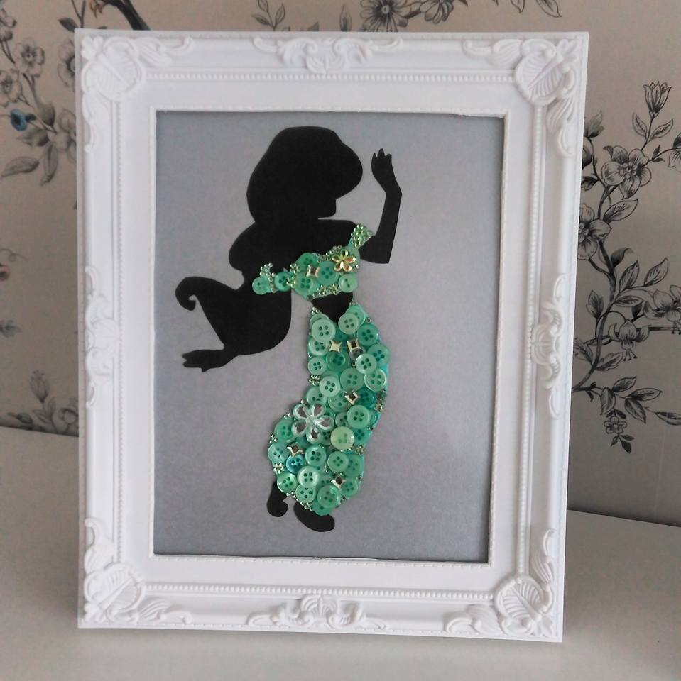 Disney inspired jasmine aladdin button art for Kinderzimmer jasmin