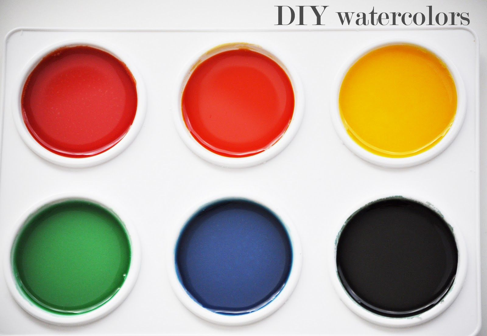 Diy Watercolor Paints Homemade Watercolors Homemade Art Diy