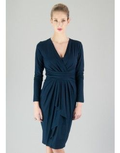 Navy Uptown Dress - saint bustier - company makes clothes to fit and flatter large breasts.  im a new fan.
