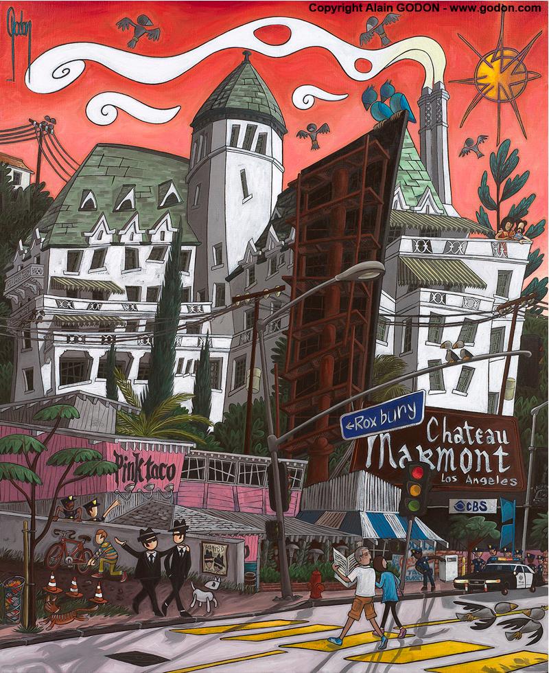Château Marmont by artist, Alain Godon.