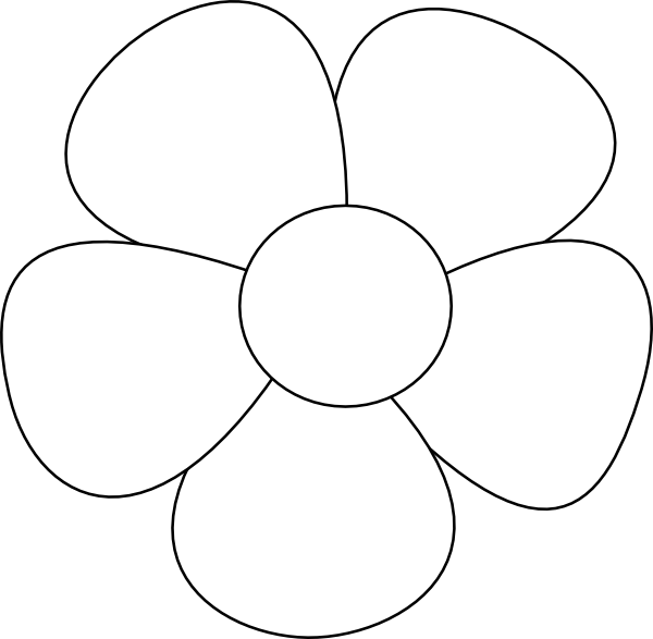 Simple Flower Svg Downloads Flowers Download Vector Clip Art Clipart Best Flower Pattern Drawing Flower Templates Printable Flower Stencil Patterns