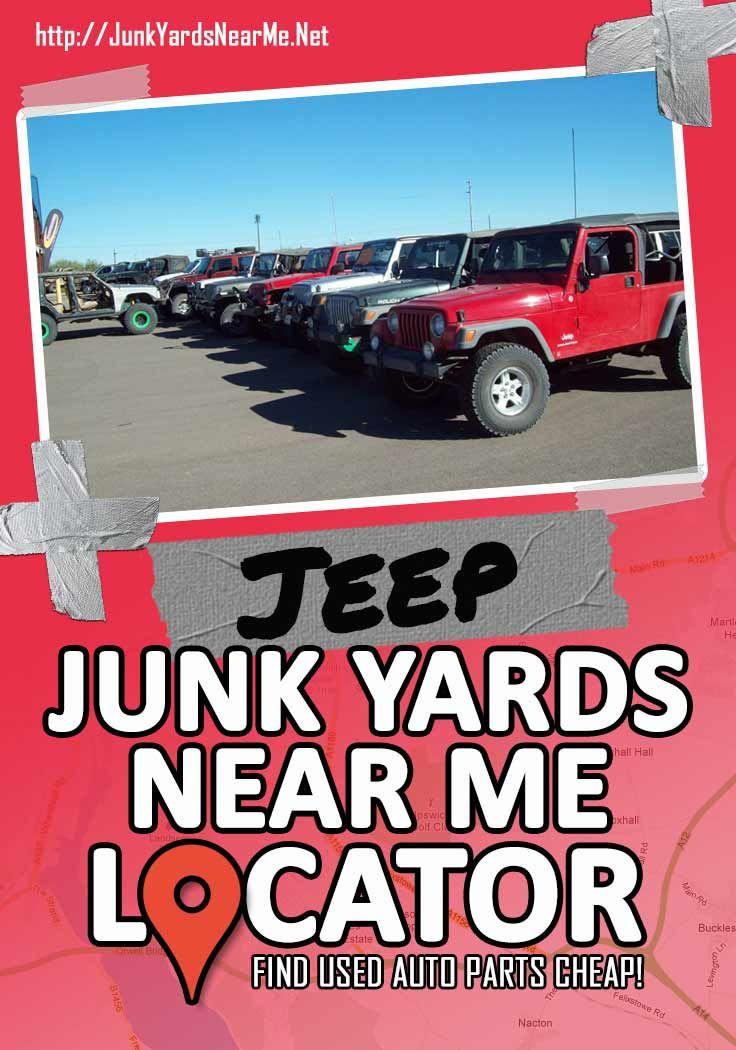 Jeep Wrangler Salvage Yards : wrangler, salvage, yards, Salvage, Yards, Parts, Discounted, Prices., Jeep,, Junkyard,, Jeeps