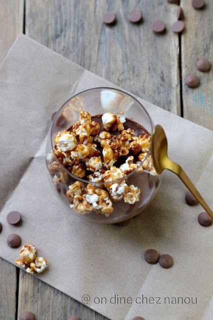 Chocolat Dessert Facile Pop Corn Sans Cuisson Rapide