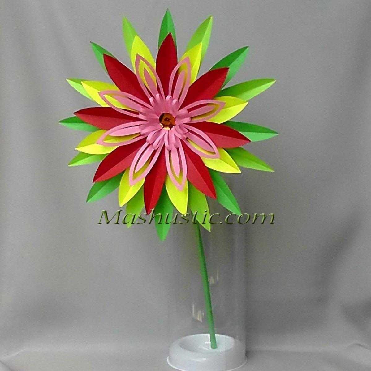 How To Make A Paper Flower Mashustic Arte De Papel