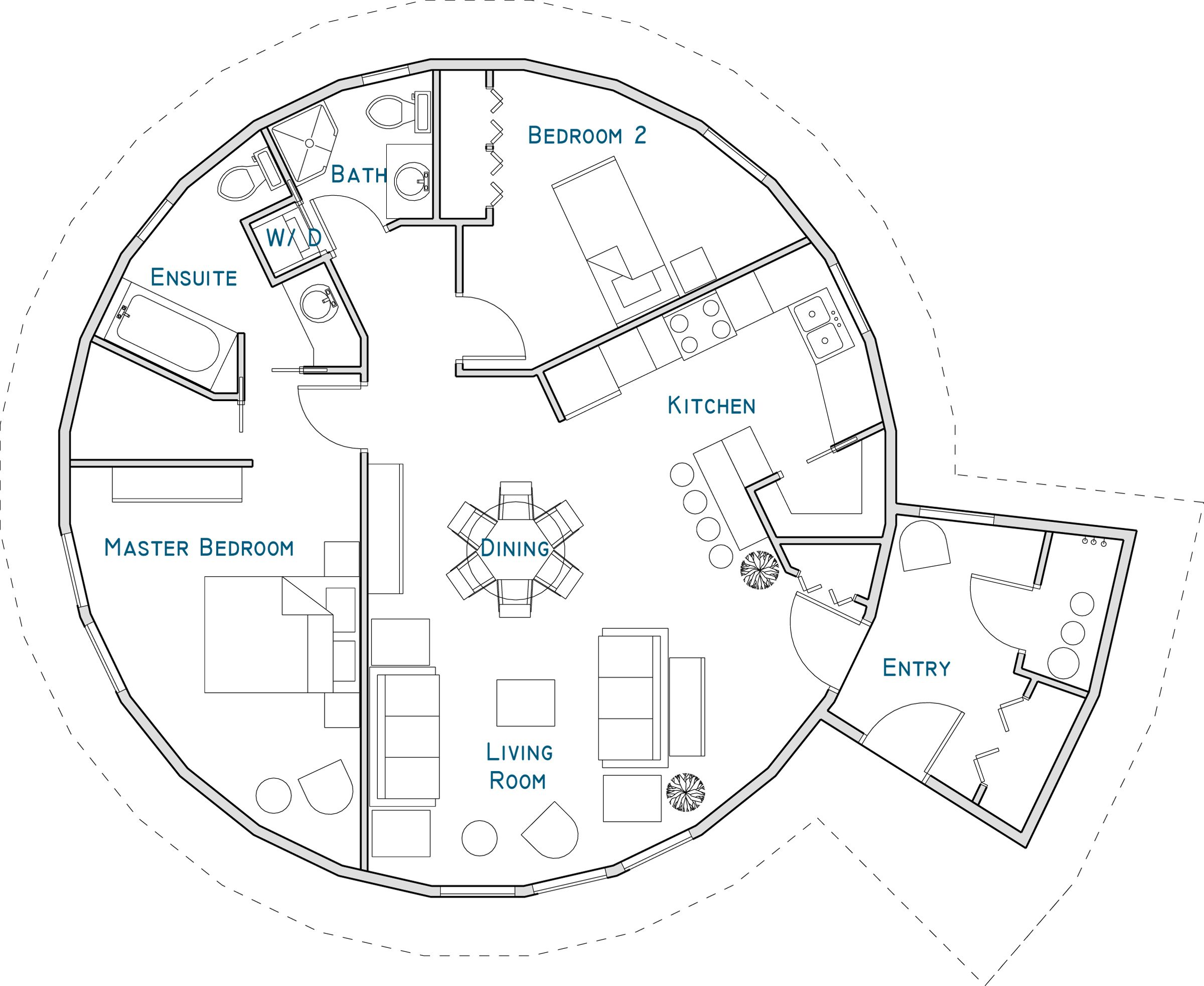 Floor Plan Tree House Interior Round House Interior Floor Plan