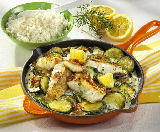 Zucchini-Fisch-Pfanne Rezept Zucchini, Fischpfanne und - leichte k che einfache rezepte