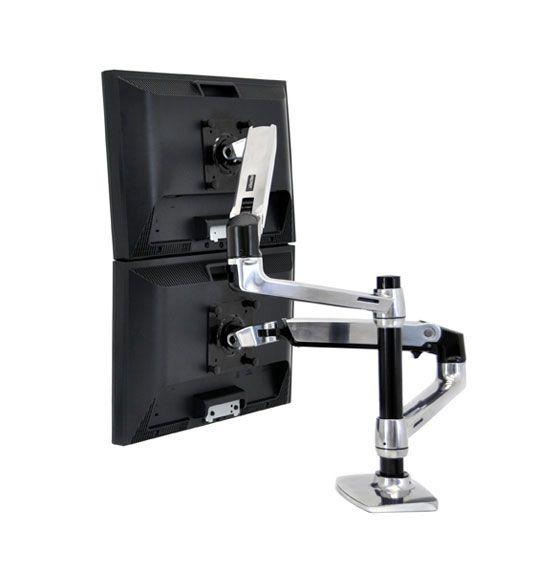 45 248 026 base articulada para 2 monitor mesa escritorio for Soporte monitor mesa