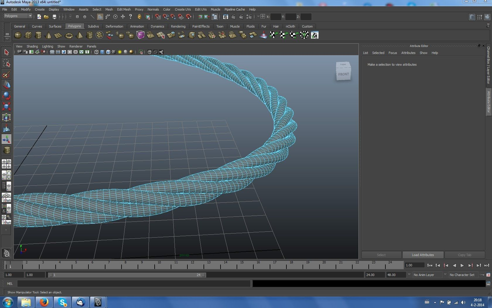 Maya tutorial : How to create twisted rope in Autodesk Maya