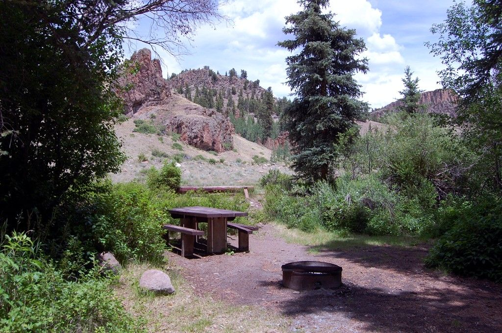 Spruce campground is a great spot for picnics camping for Camping and fishing in colorado