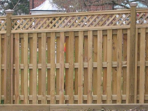 Shadowbox Lattice Top Fence Http Www Best Fences Com