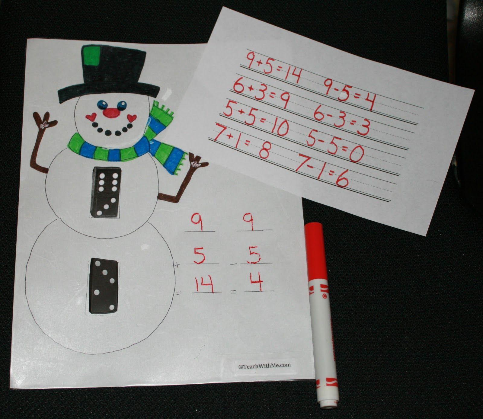 Dominic The Domino Snowman