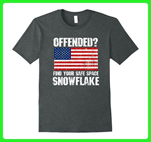 Mens Find Your Safe Space Snowflake Funny Conservative T-shirt Medium Dark  Heather - Funny