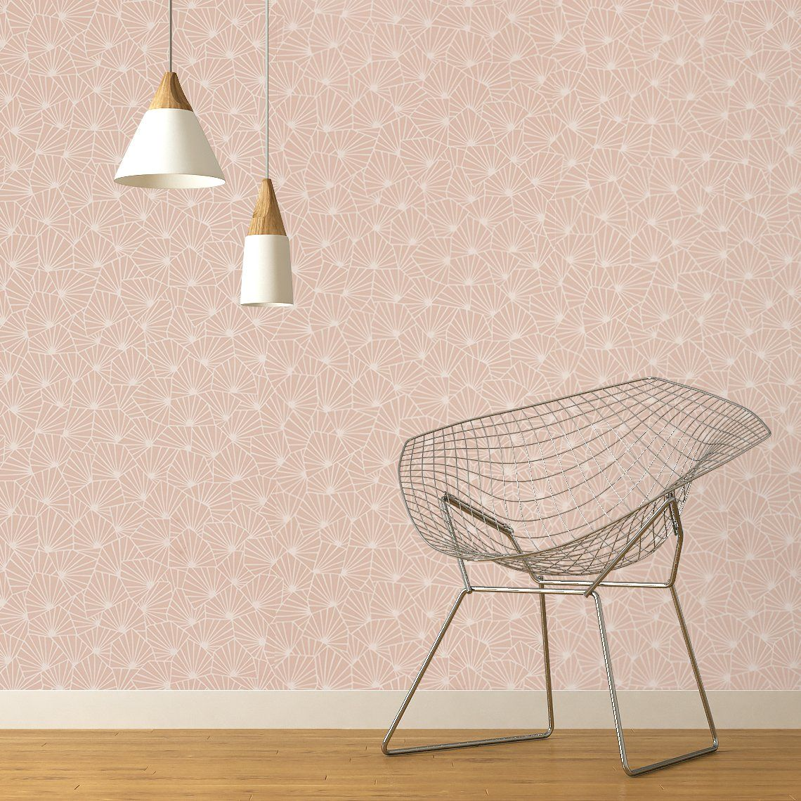 Colle Papier Peint Intissé Chantemur papier peint sacha 100% intissé motif graphique, rose poudré
