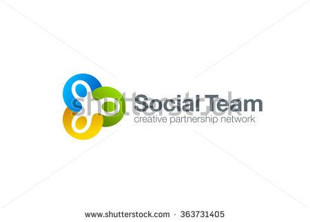 Team work Social Logo design vector template. Three men holding ...