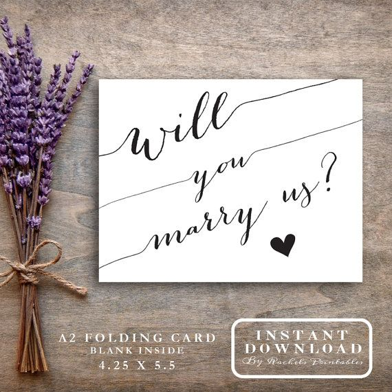 Will You Marry Us What Better Way To Ask Your Trusted Friend Or Family Member