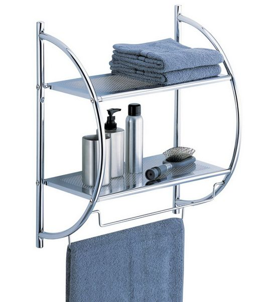 Ordinaire The Chrome Bathroom Shelf With Towel Bars Creates More Storage Space In  Your Bathroom For Towels
