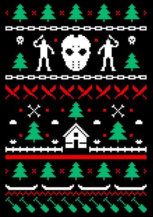 Happy Merry Friday The 13th Christmas Horror Creepy Christmas Scary Christmas