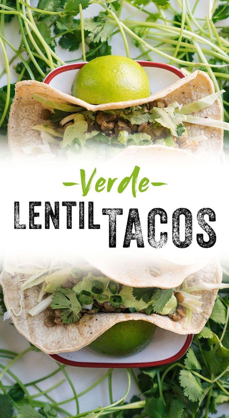 Verde Lentil Vegan Tacos