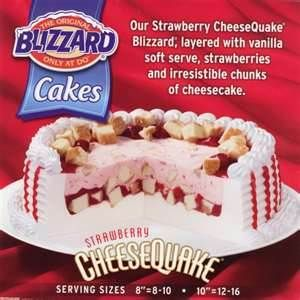 Strawberry Cheesequake Blizzard Cake Recipe