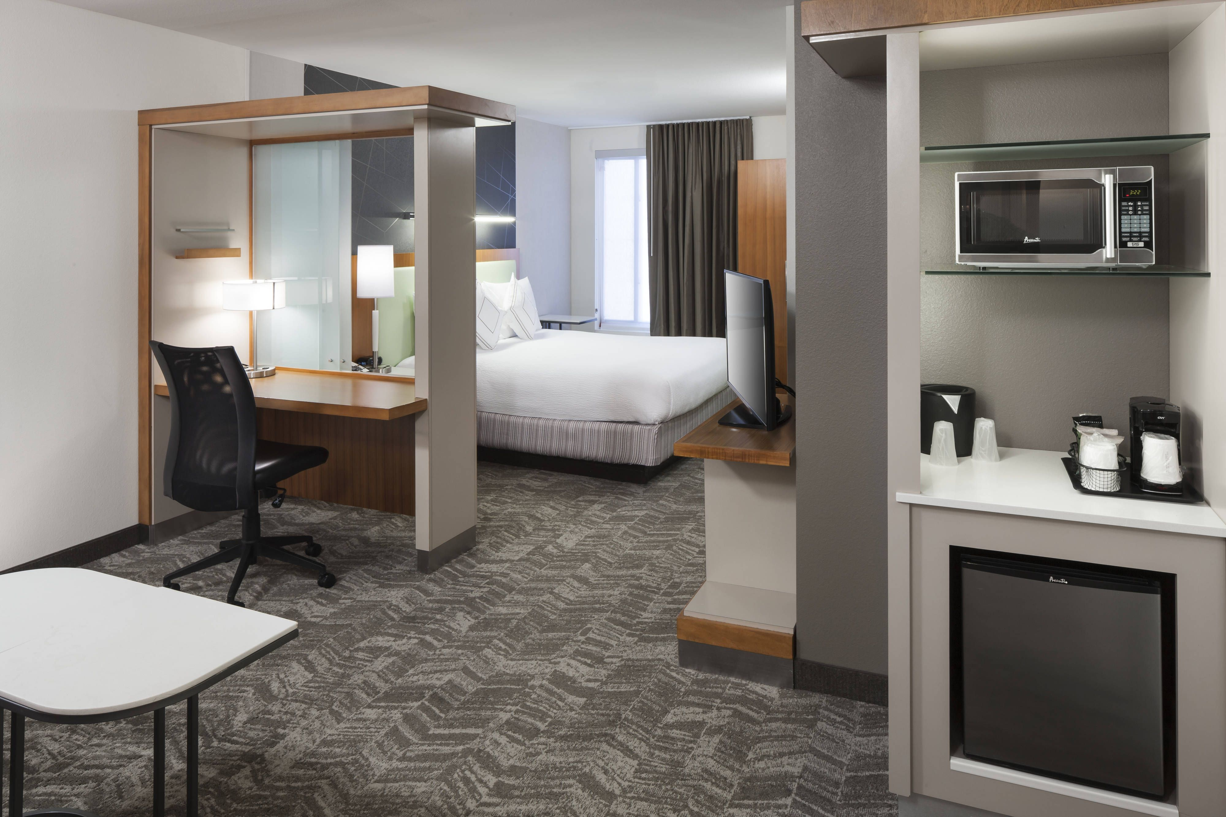 Springhill suites salt lake city airport king suite guestroom