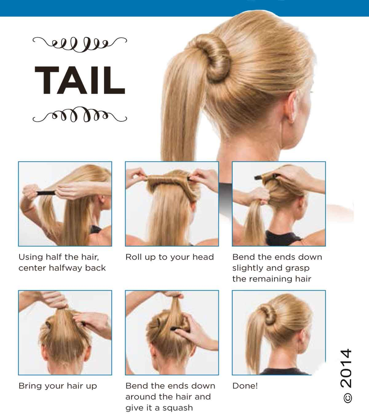 Printable Instructions For The Tail A Bun With A Ponytail Use Bun Barz For A Perfect Bun On Any Hair Type Pony O Work Hairstyles Hair