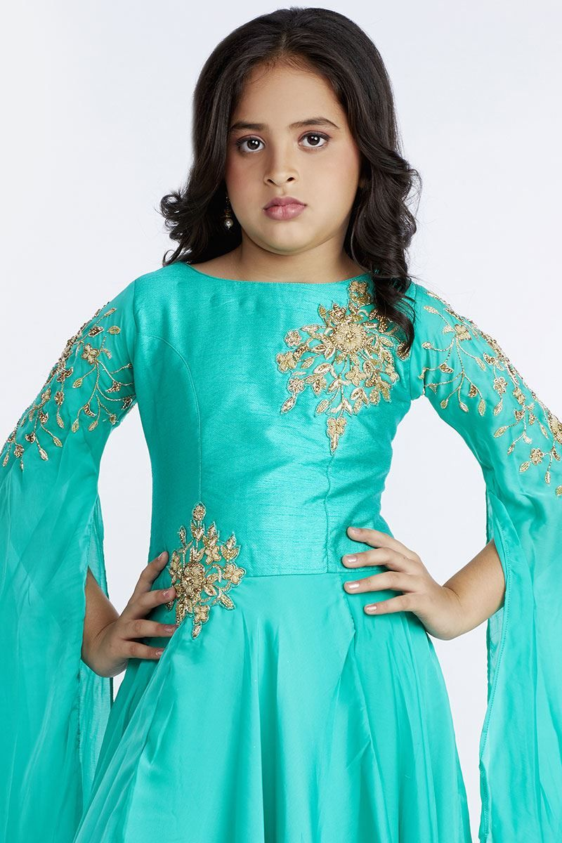 Fascinating turquoise rich evening gown | dress design ...