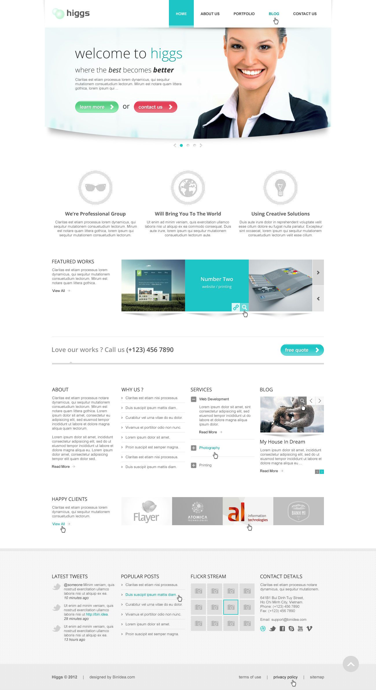 Higgs - Clean & Modern Multi Purpose PSD Template - Mojo Themes #design #webdesign #template #web #graphic #psd #photoshop #website
