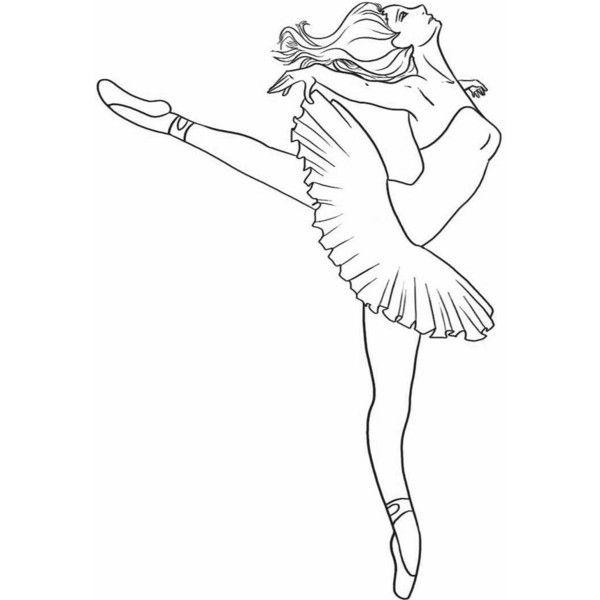 How To Draw A Ballerina Dancer Step 7 Liked On Polyvore Dance Coloring Pages Ballerina Coloring Pages Coloring Pages