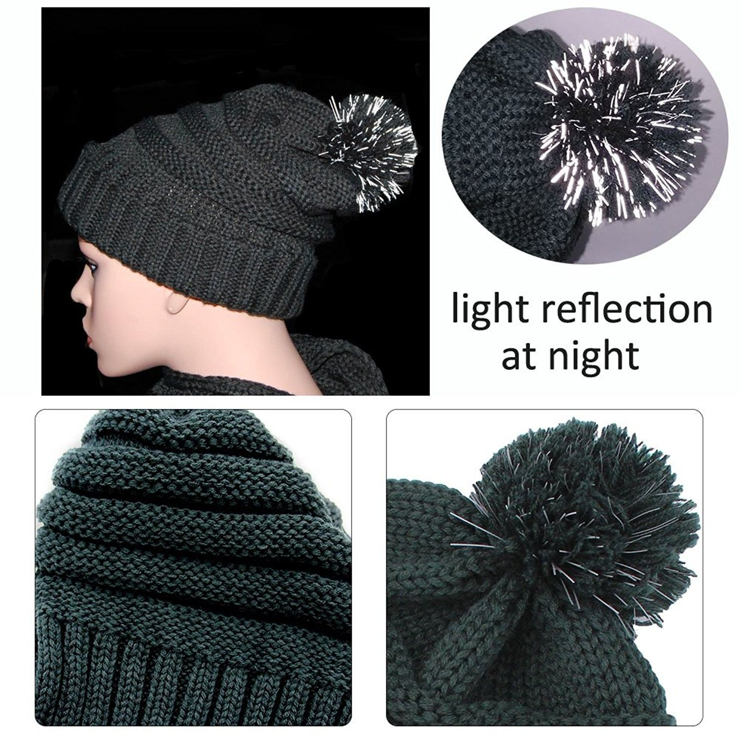 Knit Hat Scarf Gloves Set Women Men Unisex Cable Knit Winter Cold Weather Gift Set Forest Green Cp187mxx89u Cold Weather Gift Winter Knits Knitted Hats