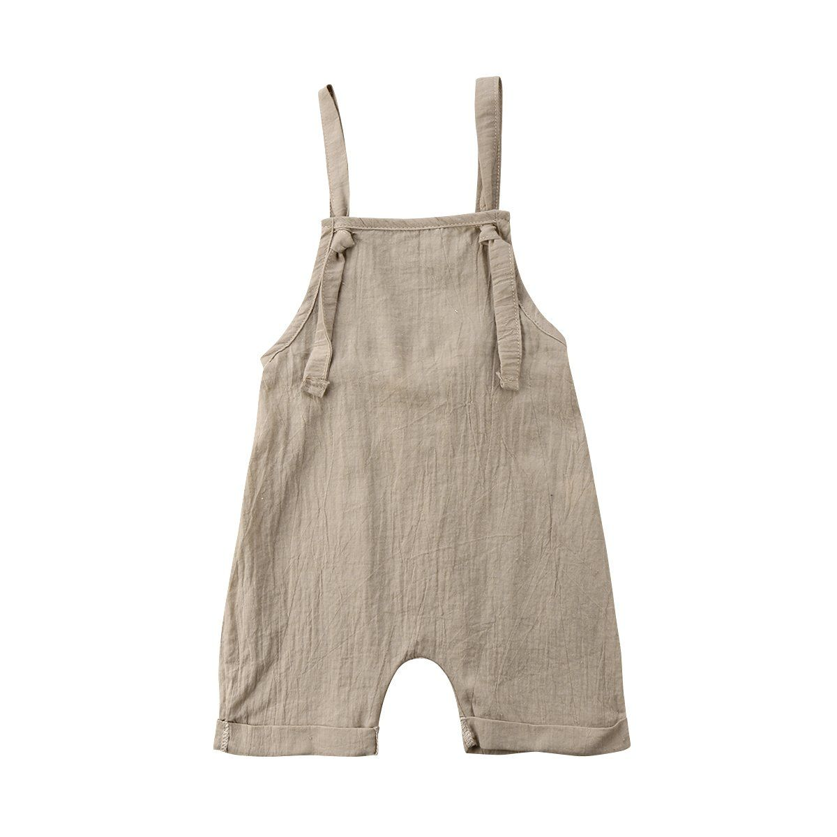 UK Toddler Baby Girl Summer Dungarees Bib Pants Romper Overalls Outfit Clothes
