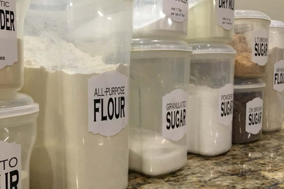 Baking Supply Container Labels