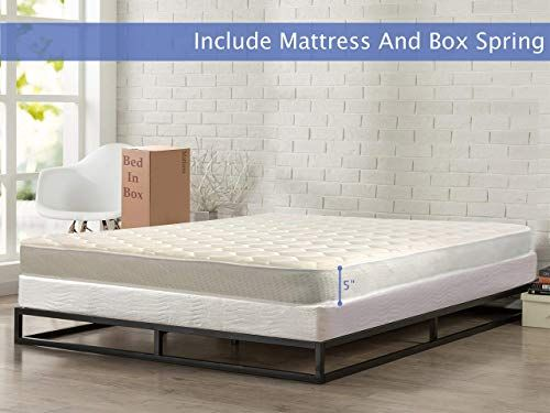 Buy Nutan Medium Firm 5 Inch High Density Poly Foam Mattress And 5 Inch Unassembled Wood Boxspring Foundation Set King Size Beige Online In 2020 Mattress Foam Mattress Folding Bed Mattress