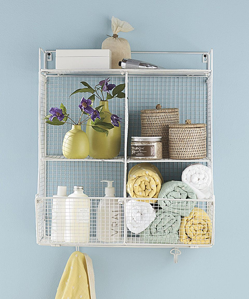 Take a look at this White Four-Bin Wire Hanging Shelf today! | Home ...