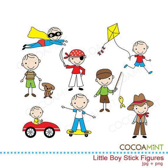 Little Boy Stick Figures Clip Art Stick Figure Drawing Stick Figures Stick Art