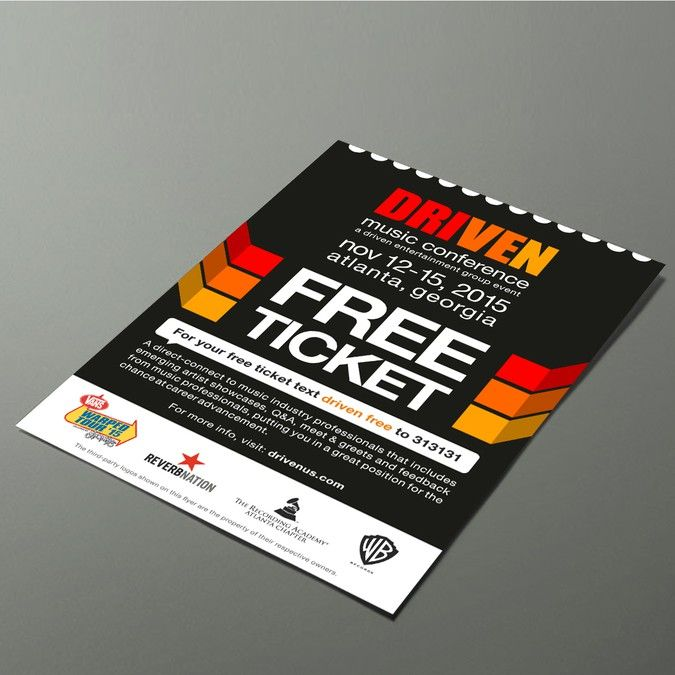 High Quality Create A Free Ticket For Music Conference By PathLiner Poster   How To Make  Tickets For  How To Make Tickets For An Event For Free