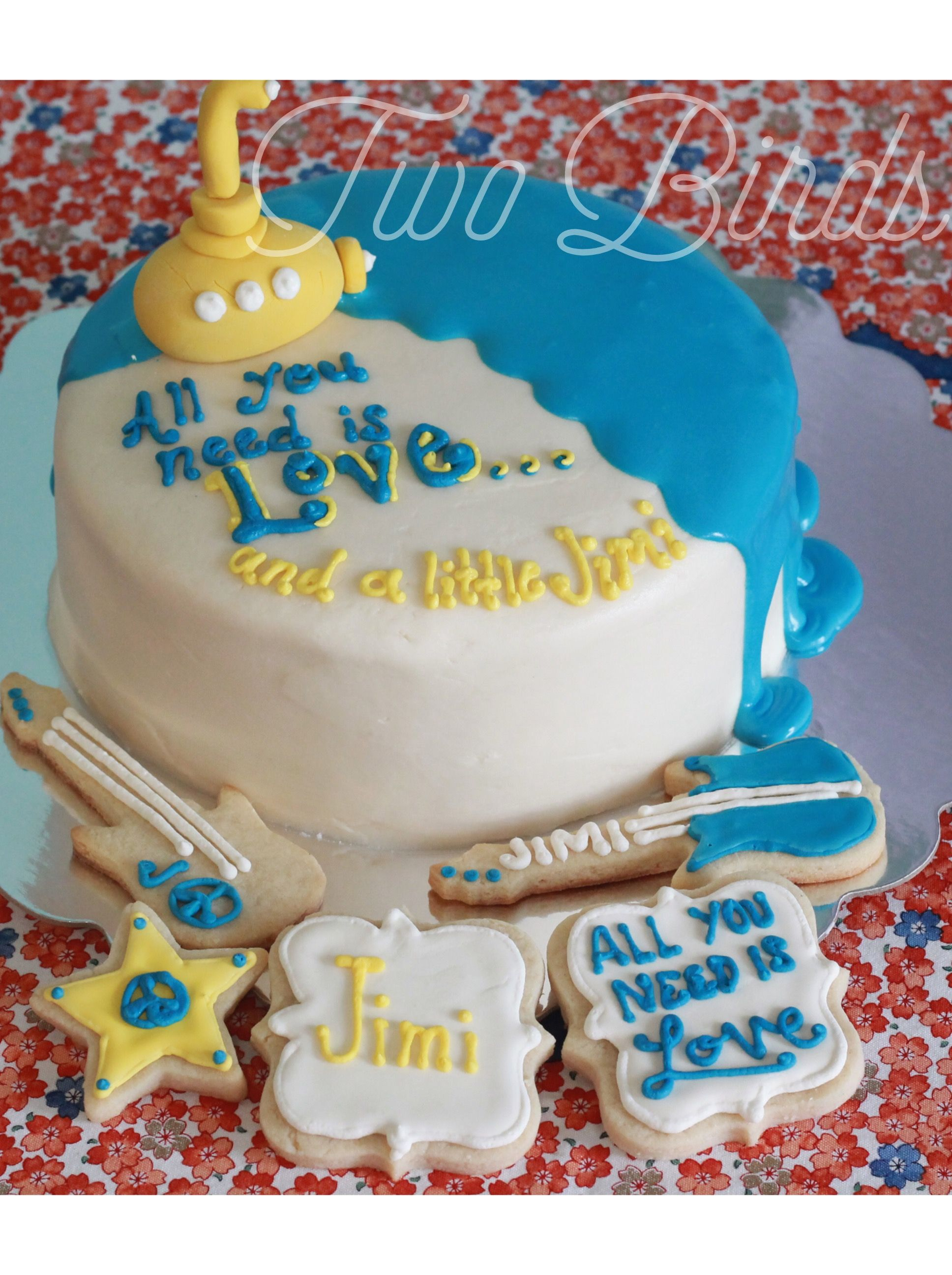 All You Need Is Love Cake Beatles Cake Yellow Submarine Baby