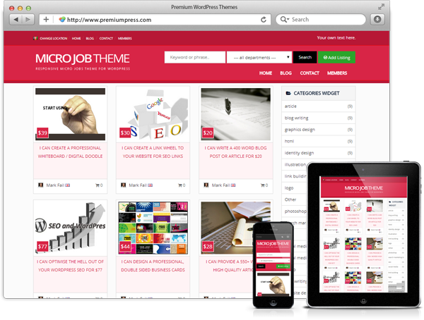 The Absolute Best Micro Job WordPress Themes (Fiverr Clone